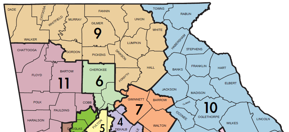Map Of Georgia Congressional Districts 2014.North Georgia