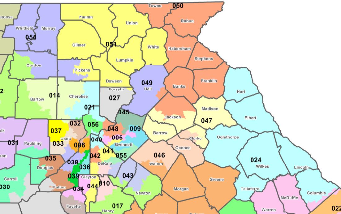 Georgia State Senate Districts